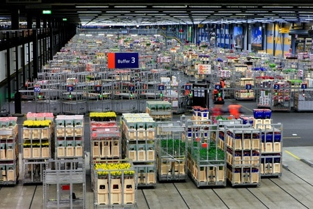 Warehouse at Aalsmeer Floraholland, the world's largest flower auction