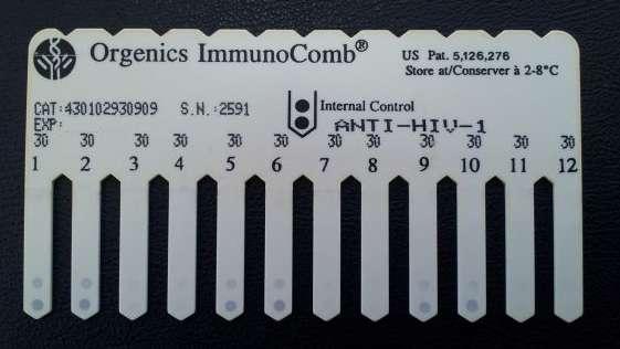 HIV Orgenics ImmunoComb