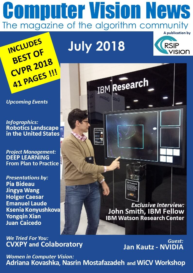 Computer Vision News July Best of CVPR 2018