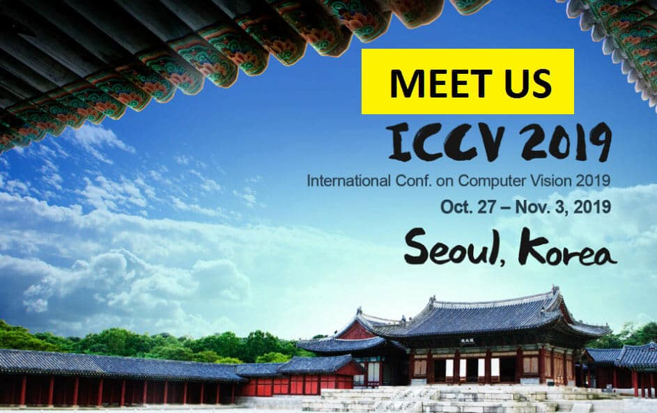 ICCV 2019 &#8211; Oct. 27 &#8211; Nov 3 <br>in Seoul, Korea