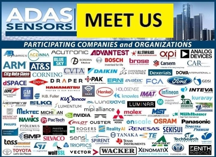 ADAS Sensors 2019:<br>March 20-21 in Detroit, MI