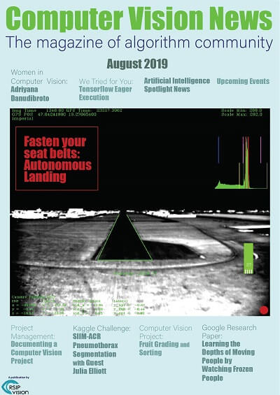 Computer Vision News - August 2019