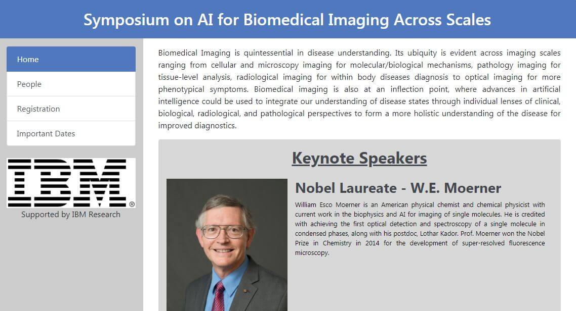 IBM Symposium on AI for Biomedical Imaging:<br>February 4-5 in San Jose, CA